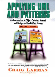 Applying Uml And Patterns An Introduction To Object-Oriented Analysis And Design And The Unified Process