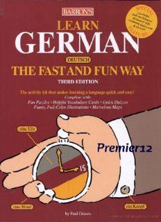 Learn German the Fast and Fun Way