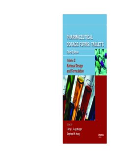 Pharmaceutical Dosage Forms: Tablets, Third Edition (Three-Volume Set): Pharmaceutical Dosage Forms: Tablets, Third Edition Volume 2: Rational Design and Formulation