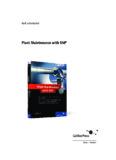 Download Plant Maintenance With Sap - SAP PRESS