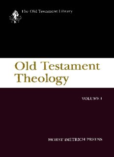 Old Testament Theology: Volume I (Old Testament Library)