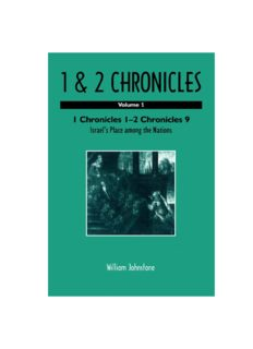 1 and 2 Chronicles: Volume 1: 1 Chronicles 1-2 Chronicles 9: Israel's Place among Nations