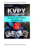 SX KVPY Practice Test Papers with Solutions for Standard 12 from Career Point CP Publication Kota