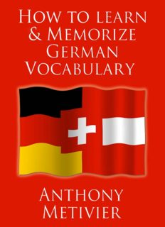 How to Learn and Memorize German Vocabulary ... Using a Memory Palace Specifically Designed for the German Language