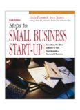 Steps to Small Business Start-Up: Everything You Need to Know to Turn Your Idea into a Successful