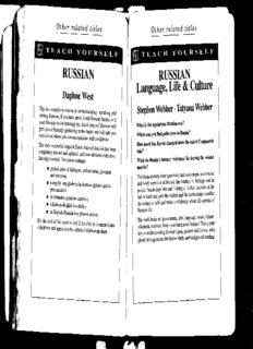 Beginner's Russian