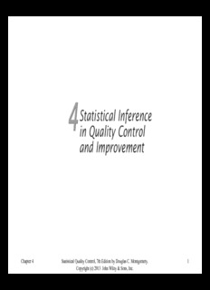 Chapter 4 Statistical Quality Control, 7th Edition by Douglas C. Montgomery. Copyright