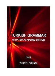 turkish grammar updated academic edition yüksel göknel
