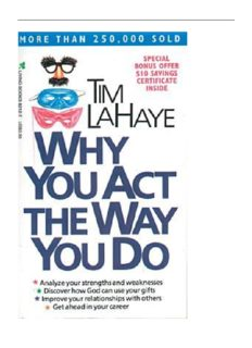 Why You Act the Way You Do by Tim LaHaye