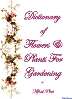 Dictionary of Flowers And Plants For Gardening