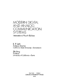 Modern Digital and Analog Communications Systems by B.P. Lathi