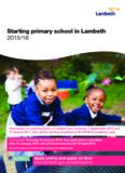 Starting primary school in Lambeth 2015/16
