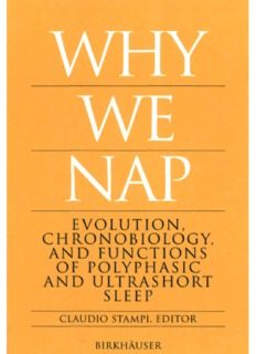 Claudio Stampi (Editor), Why We Nap