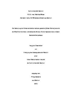 Die Bedeutung der Crista vertebralis mediana posterior (Crista Krämer)
