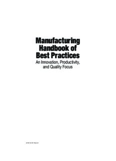 Manufacturing Handbook of Best Practices: An Innovation, Productivity, and Quality Focus (St. Lucie Press Apics Series on Resource Management)