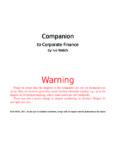Warning - Corporate Finance - Ivo Welch