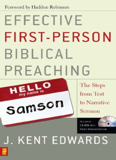 Effective First-Person Biblical Preaching: The Steps from Text to Narrative Sermon
