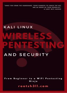 Kali Linux Wireless Pentesting and Security for Beginners