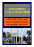 damage control in trauma & orthopedic surgery trauma & orthopedic surgery