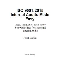 ISO 9001:2015 Internal Audits Made Easy - Tools, Techniques, and Step-by-Step Guidelines for Successful Internal Audits