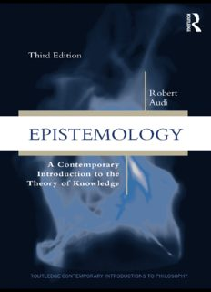 Epistemology: A Contemporary Introduction to the Theory of Knowledge (Routledge Contemporary Introductions to Philosophy)