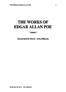 Poe, Edgar Allen - The Works of Edgar Allen Poe - Volume 01