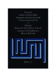 Emanuel: Studies in the Hebrew Bible, the Septuagint, and the Dead Sea Scrolls in Honor of Emanuel