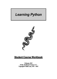 Learning Python - Mark Lutz's