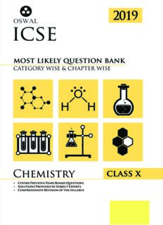 Most Likely Question Bank for Chemistry ICSE  class 10 Standard X Oswal Publishers