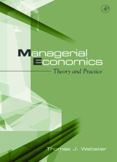 Managerial Economics: Theory and Practice
