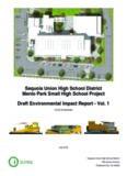 Sequoia Union High School District Menlo Park Small High School Project Draft Environmental ...
