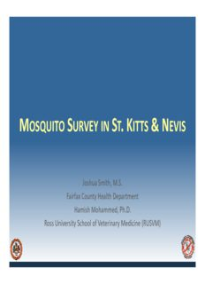 mosquito survey in st kitts & nevis mosquito survey in st. kitts & nevis
