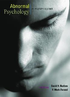 Abnormal Psychology - An Integrative Appr. 6th ed.