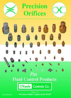 O'Keefe Controls Catalog 11 REV 6-July 2006 - O'Keefe Controls Inc