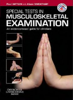 Special Tests in Musculoskeletal Examination: An evidence-based guide for clinicians (Physiotherapy Pocketbooks)