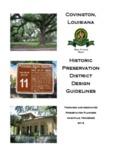 2012 Historic District Design Guidelines - City of Covington