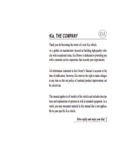 Kia, THE COMPANY - Kia Canada