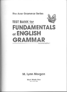 Test Bank for Fundamentals of English Grammar