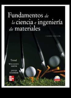 Fundamentos de la ciencia e ingeniería de materiales, 4th Edition Fundamentos de la ciencia e ...