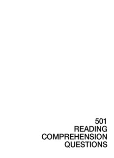 501 Reading Comprehension Questions 3rd Edition