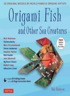 Origami Fish and Other Sea Creatures Ebook: 20 Original Models by World-Famous Origami Artists