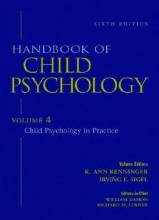Handbook of Child Psychology, Vol. 4: Child Psychology in Practice, 6th Edition