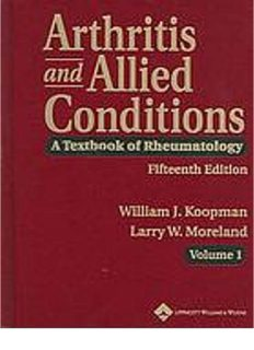 Arthritis and Allied Conditions; A Textbook of Rheumatology (14th Ed.) – Lippincott Williams & Wilkins