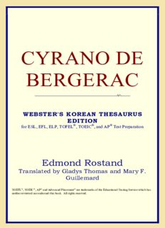 Cyrano de Bergerac (Webster's Korean Thesaurus Edition)