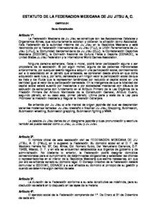 estatuto de la federacion mexicana de jiu jitsu a, c.