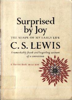 Surprised by Joy CS LEWIS