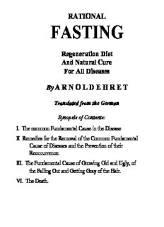 "Arnold Ehret ""Rational Fasting"""