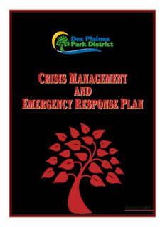 crisis management emergency response plan crisis management and emergency response plan ...