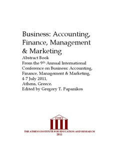 Business: Accounting, Finance, Management & Marketing