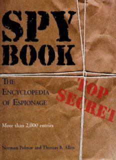 Spy Book - The Encyclopedia of Espionage